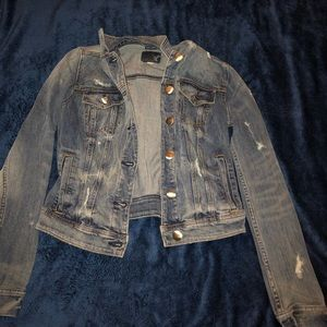 American Eagle ripped jean jacket